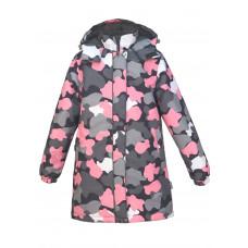 Пальто камуфляж роза